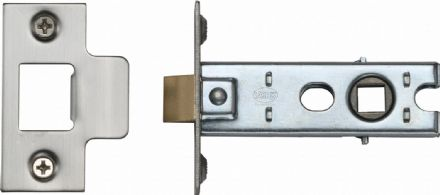 M Marcus York Security YKTL3-SN&SC Mortice Latch 76mm Satin Nickel/Chrome